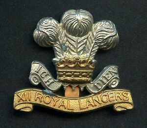Great-Britain-The-12th-Royal-Lancers-Cavalry-Cap-Badge-42-mm-x-50-mm