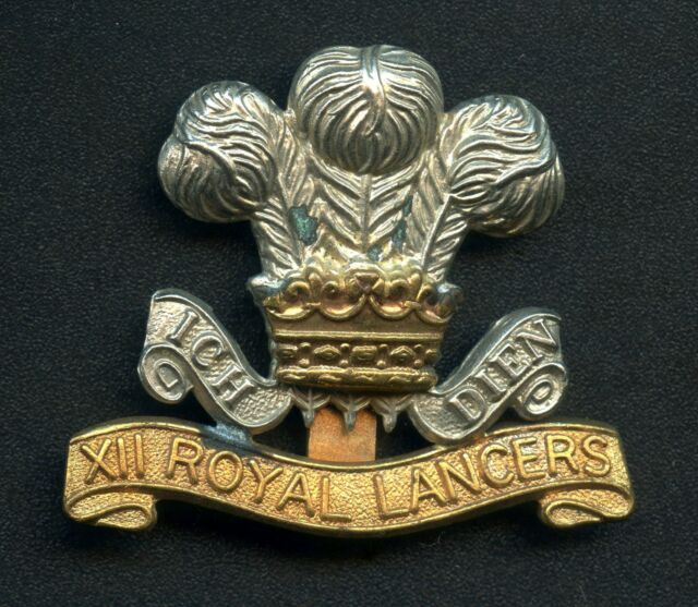 Great Britain The 12th Royal Lancers Cavalry Cap Badge 42 mm x 50 mm