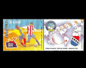 FUTSAL-COUPE-DU-MONDE-Paraguay-2003-football-se-tenant