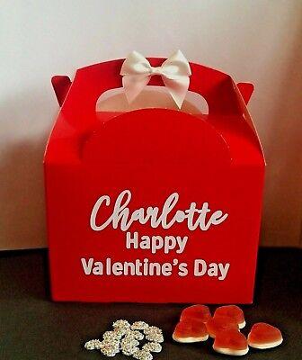 Valentines Day Gift Box Personalised Name Red Present Happy Valentine S Day Ebay