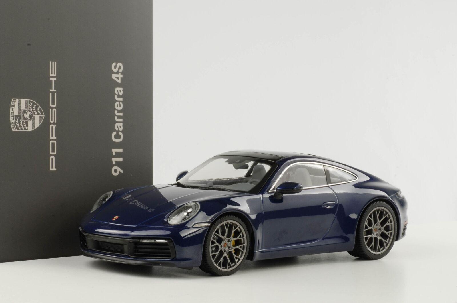 Porsche 911 992 voiturerera 4S  2019 enzianblau metallic 1 18 Minichamps diecast Dea