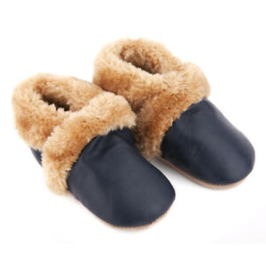 NEW-SKEANIE-Pre-walker-SNUG-Leather-Shoes-Navy-0-to-2-years