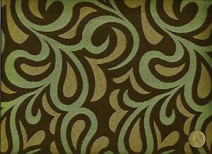 Momentum Textile Rococo Blue Funky Modern Retro Swirl Design