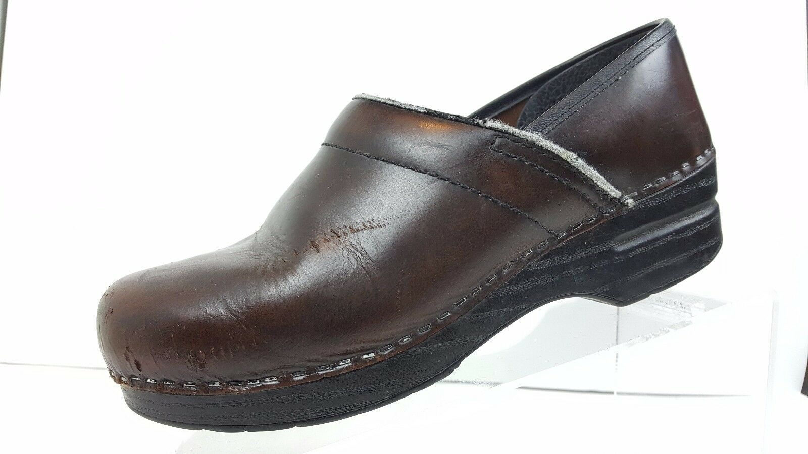 Dansko Brown Leather Clogs Women's US 8.5-9  Some Some Some Scuffing 190591