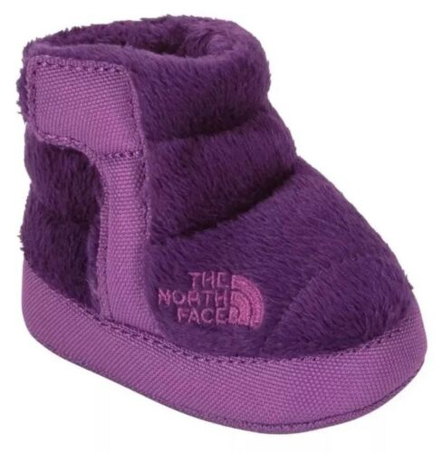6-9 Months 3 Infant The North Face Fleece Winter Bootie Shoes Purple Baby Size