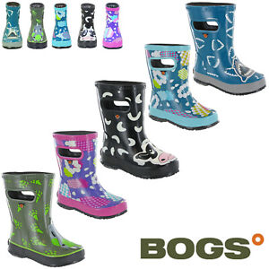 Bogs-Wellingtons-Baby-Boots-Kids-Waterproof-Rain-Lightweight-Pull-Up-Childrens