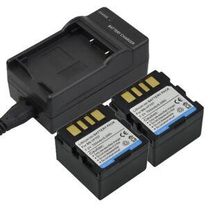 Charger-2x-700mAh-Battery-for-JVC-BN-VF707-BN-VF707U-GR-D-GR-DF-GZ-MG-Series-DV