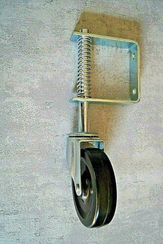 Tor Stützrad gefedert Schiebetorrolle 100 mm Schiebetür 57 kg Lenkrolle Torrolle