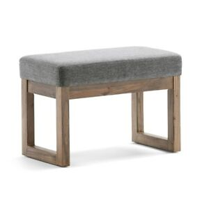 Details about Small Vanity Bathroom Chair Stool Bedroom Bench Bath Modern  Padded Seat NEW