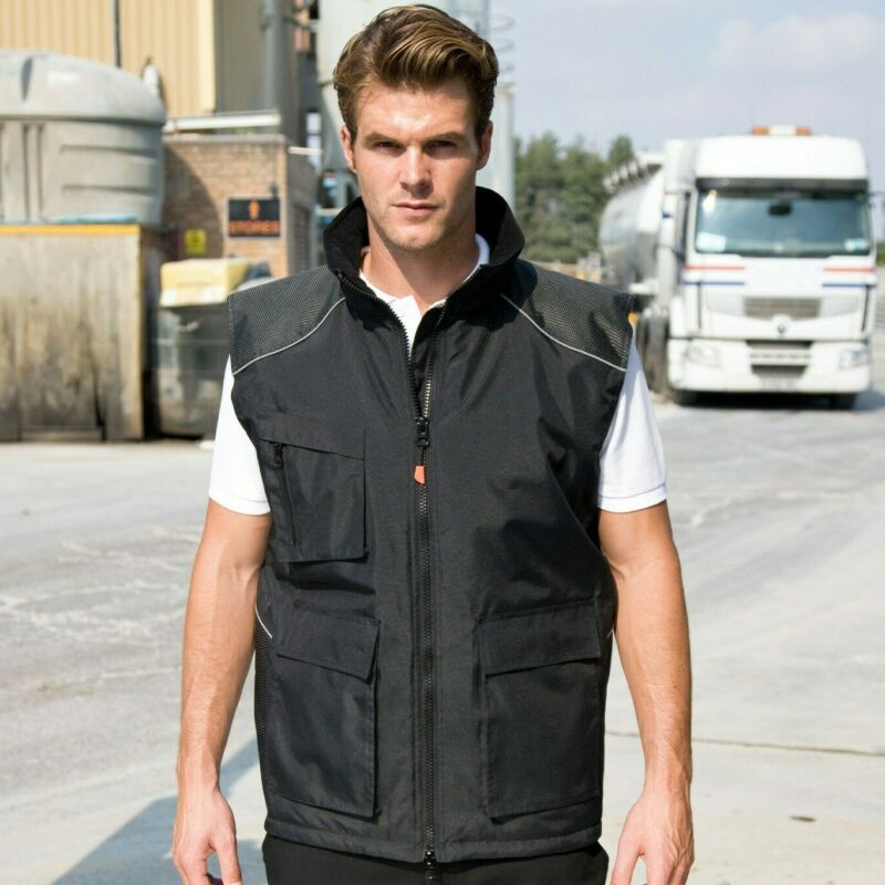 Risultato Workwear Gilet Imbottito Giacca Lavoro Gilet Impermeabile Antivento Duro (r306x)
