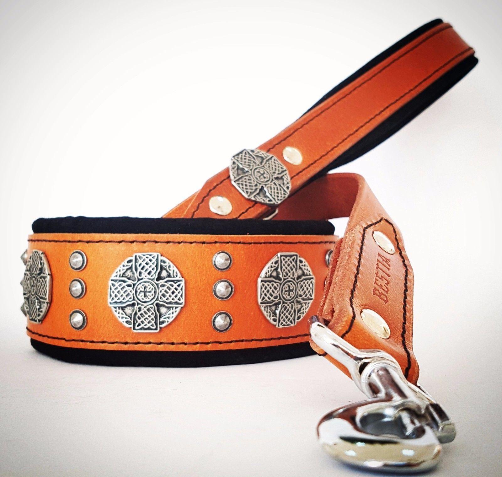 Maximus Set Collare Collare Collare & Lead. qualità fatti a mano da BESTIA. MADE in Europe. M-XXL. 5d72ee