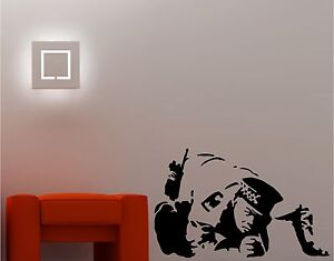 Image Is Loading BANKSY STYLE COP SNORTING Wall Art Sticker Vinyl