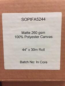 SOP-Matte-260-gsm-100-Polyester-Canvas-44-034-x-100-039-Roll-Aqueous-Inkjet-Epson
