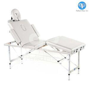 Lettino Da Massaggio Portatile In Alluminio.Lettini Per Massaggi Estetica 4 Zone Alluminio Lettino Da