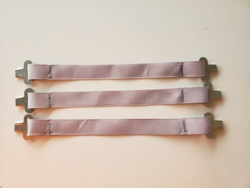 New never worn Bullard hard hat suspension one set of 3 gray straps and clips