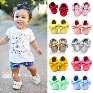Baby-Shoes-Newborn-Infant-Pram-Mary-Jane-Girls-Princess-Moccasins-Soft-Moccs