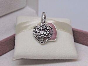 c0027dc79 New w/Hinge Box Pandora Love Makes a Family Pink Heart Charm ...