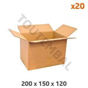 Caisse Carton 200 X 150 X 120 Mm Simple Cannelure (par 20)