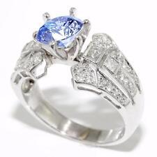 0.60 CTW Round Princess DIAMOND Semi Mount Setting Engagement Ring 18K Gold