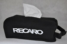 NEW Black Car Seat Tissue Box Cover Holder Case with Embroidery Recaro ~ L@@K!!