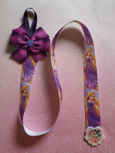Handmade Hair Bow Clips Holder Princess Aurora Design Grosgrain Ribbon