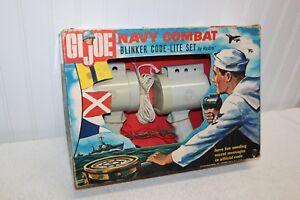 Vintage Gi Joe - Ensemble code-lite de clignotant bleu marine d'attaque pour arrière-cour