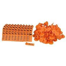 Bqlzr Orange 1 100 Number Plastic Livestock Ear Tag Animal Tag For Goat Sheep