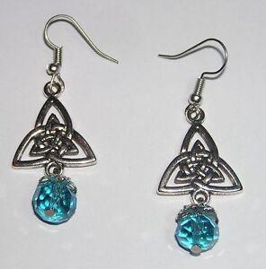 Boucles-d-039-oreilles-Charmed-symbole-triquetra-Pouvoir-3-soeurs-Charmed-earrings