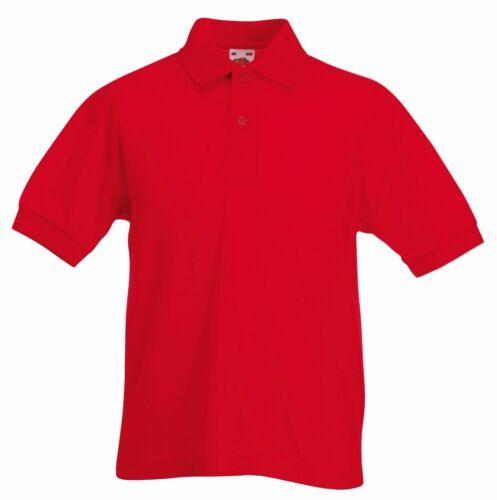 Bambini Kids Polo Top Ragazzi Ragazze Bambino Semplice School Uniform T-Shirt Nuovo