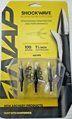 NAP Shockwave 100 Grain  Broadhead 3 pack 60-265