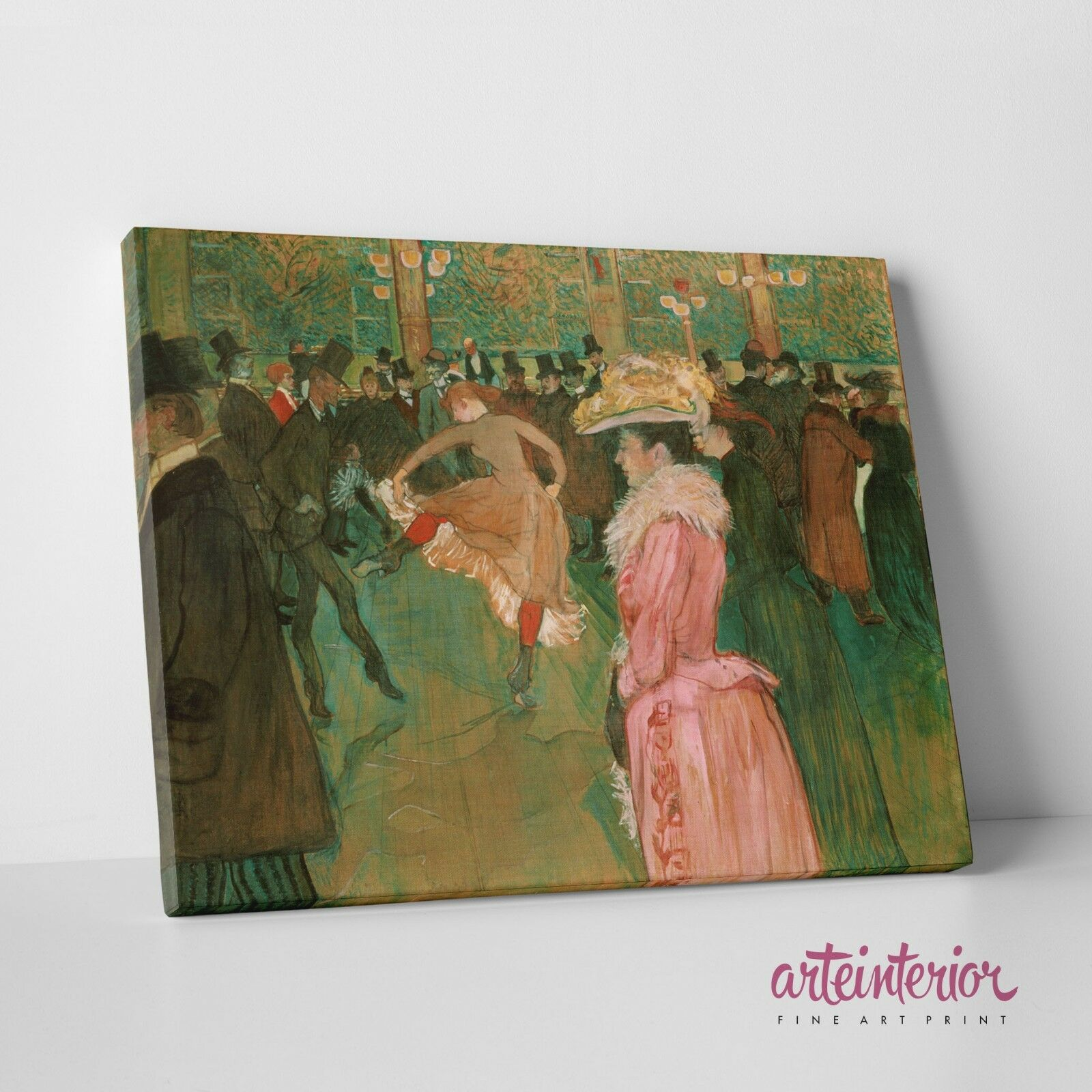 Henri de Toulouse-Lautrec 'Dance At the Moulin rot' Stampa Stampa Stampa su tela Canvas HR f9f6aa