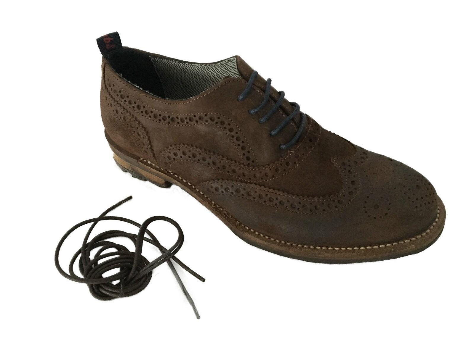 SNOBS zapato hombre mogano lacci lacci lacci blu con ricambi moro mod CHARLIE M MADE IN ITALY a10abb