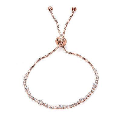 Rose Gold CZ Tennis Bracelet