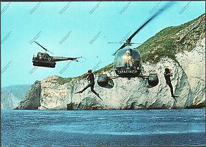 CARTOLINA-D-039-EPOCA-COOPERAZIONE-TRA-ELICOTTERI-e-CARABINIERI-SUBACQUEI-1970