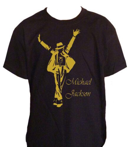 fm10 t-shirt Kind MICHAEL JACKSON Druck Gold king of pop Musik