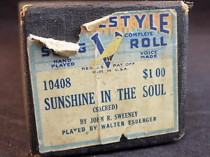 Belle Player Piano Roll Style Vocal 10408 Sunshine Dans L'âme V Chanson Roll-afficher Le Titre D'origine