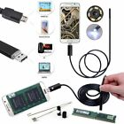 USB 1/2m/5m/10m -7mm 6LED 2 In1 Android PC Endoscope Borescope Inspection Camera