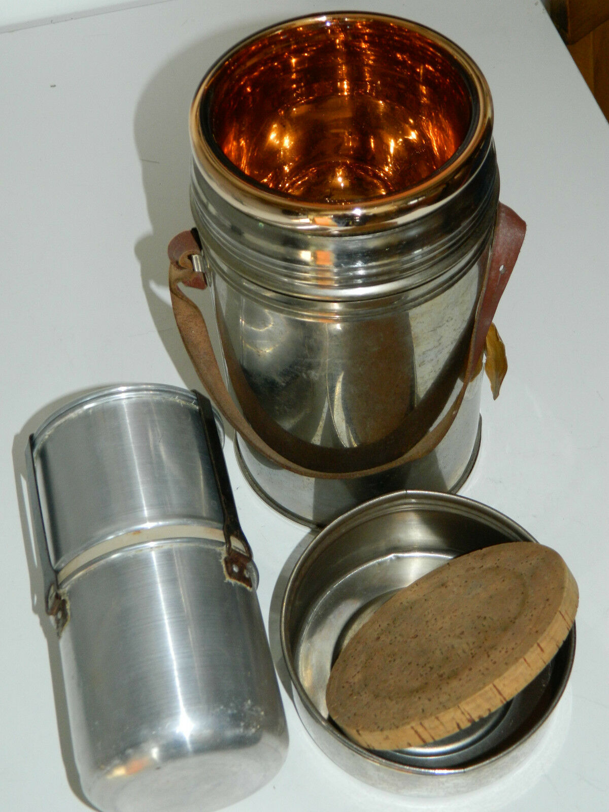 vintage BOUTEILLE THERMOS ISAL Vacuum Flask MILITAIRE cantine camping QUART cantine MILITAIRE db13f2