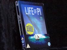 Life of Pi Steelbook [Blu-ray 3D + 2D] -- Deutsche Tonspur -- Lenticular -- Neu