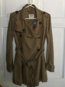 REDUCED-ABERCROMBIE-amp-FITCH-LIGHTWEIGHT-TRENCH-COAT-039-LOOK-039-WOMENS-SM-NWT