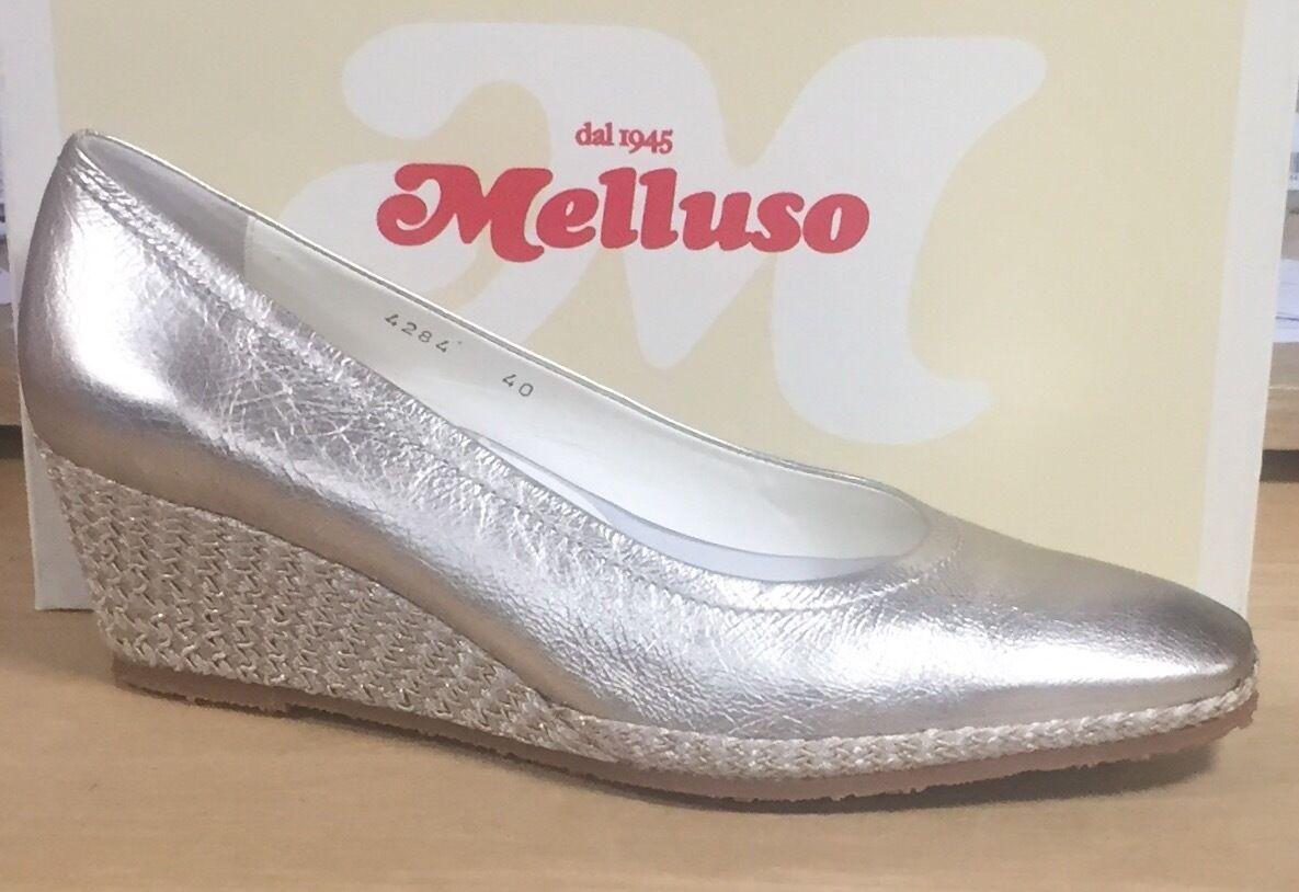 Descuento barato MELLUSO O4284 Zapatos de mujer zapatos de salón de cuña en cuerda suave piel oro