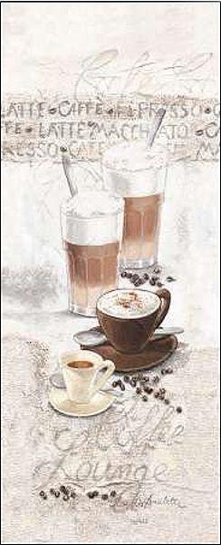 Claudia Ancilotti Coffee Lounge Keilrahmen-Bild Leinwand ...