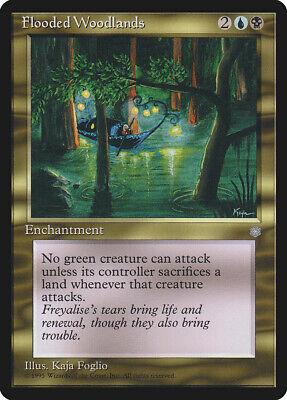 Flooded Shoreline Visions NM-M Blue Rare MAGIC THE GATHERING MTG CARD ABUGames