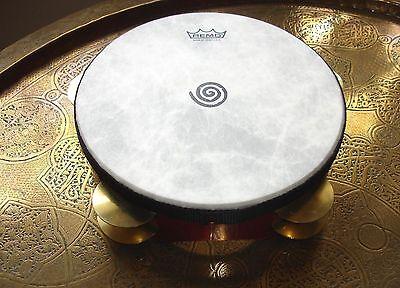 """Remo Glen Velez riq req frame hand drum tambourine   3 x 9"""""""