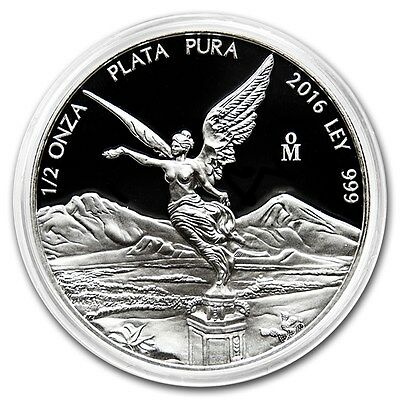 PROOF LIBERTAD - MEXICO - 2016 1/2 oz Proof Silver Coin in Capsule
