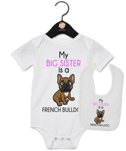 My Big Sister is French Bulldog Vest And Bib Gift Set French Bulldog Gift Set