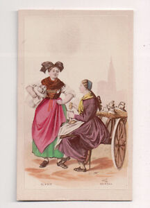 Vintage-CDV-Handpainted-ladies-of-Alsace-FranceTraditional-National-Costume