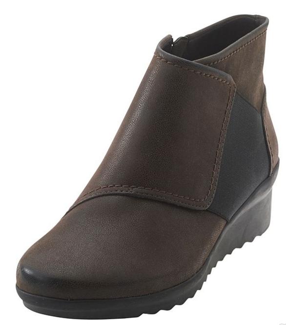 Nuevo Clarks cloudsteppers Caddell Rush botas botas Rush Botines De Cuero Marrón para Mujer 8 a86c9c