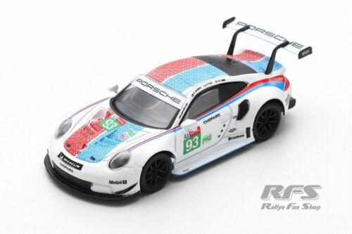 Porsche 991 911 RSR GTE 24h Le Mans 2019 Tandy Bamber Pilet 1:64 Spark Y141 NEU