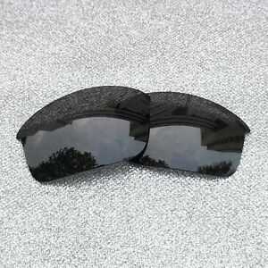 e6ebacb38a Black Polarized Replacement Lenses For-oakley Flak Jacket Sunglass 2 Pairs